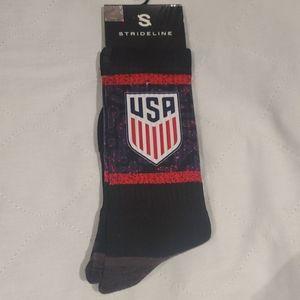 STRIDELINE- USA national soccer team socks